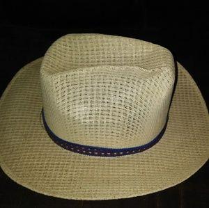 Vintage Santo Nina woven straw hat Size 6 3/4